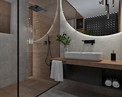 Łazienka z drewnem na ścianie - aranżacje, pomysły ...