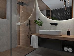 Łazienka 13 - Średnia szara łazienka w bloku w domu jednorodzinnym bez okna, styl nowoczesny - zdjęcie od Anna Romik Architektura Wnętrz