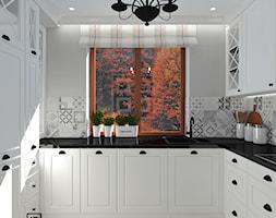 Kuchnia 3 - Mała zamknięta biała kuchnia jednorzędowa z oknem, styl rustykalny - zdjęcie od Anna Romik Architektura Wnętrz
