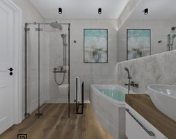 Łazienka 6 - Średnia łazienka w bloku w domu jednorodzinnym bez okna, styl skandynawski - zdjęcie od Anna Romik Architektura Wnętrz