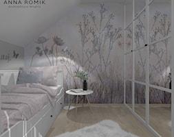 Pokój dziecięcy 10 - Mały biały szary pokój dziecka dla chłopca dla dziewczynki dla nastolatka, styl skandynawski - zdjęcie od Anna Romik Architektura Wnętrz
