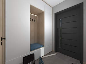 Przedpokój - Mały szary hol / przedpokój, styl skandynawski - zdjęcie od Anna Romik Architektura Wnętrz