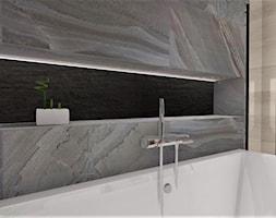 Łazienka 16 - Mała szara łazienka w bloku w domu jednorodzinnym bez okna, styl nowoczesny - zdjęcie od Anna Romik Architektura Wnętrz