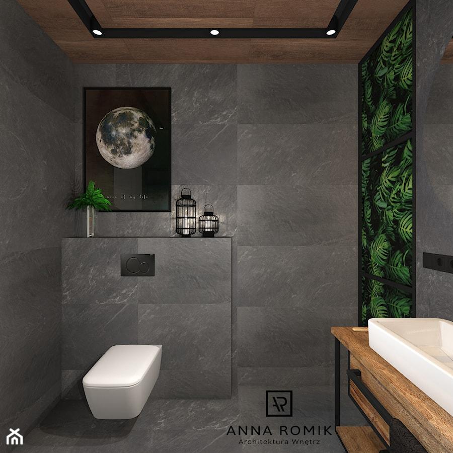 łazienka 4 Mała Szara łazienka Na Poddaszu W Bloku W Domu