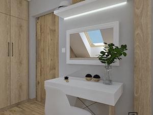 Garderoba - Średnia garderoba oddzielne pomieszczenie, styl skandynawski - zdjęcie od Anna Romik Architektura Wnętrz
