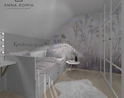 Pokój dziecięcy 10 - Średni biały szary pokój dziecka dla chłopca dla ucznia dla nastolatka, styl skandynawski - zdjęcie od Anna Romik Architektura Wnętrz