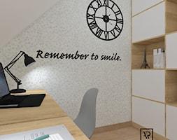 Biuro domowe - Małe białe biuro kącik do pracy, styl skandynawski - zdjęcie od Anna Romik Architektura Wnętrz