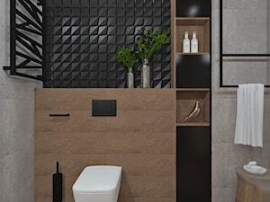 Łazienka 13 - Średnia beżowa szara łazienka, styl nowoczesny - zdjęcie od Anna Romik Architektura Wnętrz