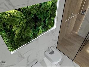 Łazienka 25 - Średnia biała łazienka, styl nowoczesny - zdjęcie od Anna Romik Architektura Wnętrz