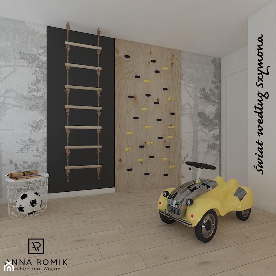 Pokój dziecięcy 3 - Średni biały szary czarny pokój dziecka dla chłopca dla dziewczynki dla malucha, styl skandynawski - zdjęcie od Anna Romik Architektura Wnętrz