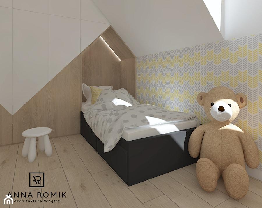 Pokój dziecięcy 3 - Mały biały kolorowy pokój dziecka dla chłopca dla dziewczynki dla malucha dla nastolatka, styl skandynawski - zdjęcie od Anna Romik Architektura Wnętrz