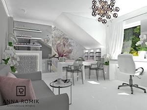 Salon kosmetyczny Sucha Beskidzka 54 m2 - Wnętrza publiczne, styl glamour - zdjęcie od Anna Romik Architektura Wnętrz