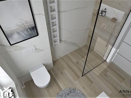 Łazienka 27 - Średnia biała łazienka z oknem, styl nowoczesny - zdjęcie od Anna Romik Architektura Wnętrz