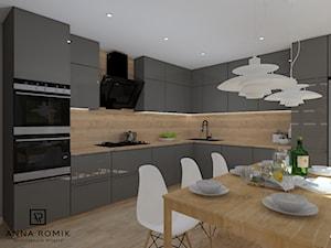 Kuchnia 4 - Średnia beżowa kuchnia w kształcie litery l w aneksie, styl skandynawski - zdjęcie od Anna Romik Architektura Wnętrz