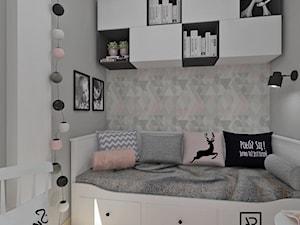Pokój dziecięcy 5 - Mały szary pokój dziecka dla dziewczynki dla malucha, styl skandynawski - zdjęcie od Anna Romik Architektura Wnętrz