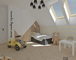 Pokój dziecięcy 3 - Średni biały żółty pokój dziecka dla chłopca dla dziewczynki dla malucha dla nastolatka, styl skandynawski - zdjęcie od Anna Romik Architektura Wnętrz