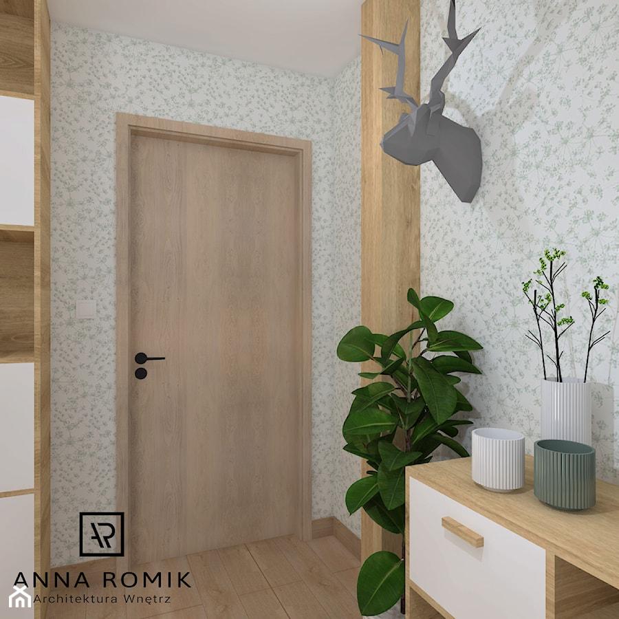 Biuro domowe - Małe białe biuro, styl skandynawski - zdjęcie od Anna Romik Architektura Wnętrz