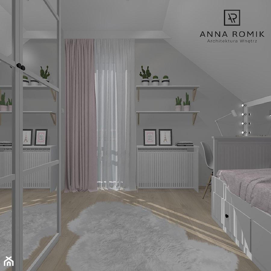 Pokój dziecięcy 10 - Średni biały szary pokój dziecka dla chłopca dla dziewczynki dla malucha dla nastolatka, styl skandynawski - zdjęcie od Anna Romik Architektura Wnętrz