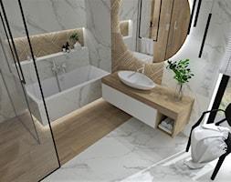 Łazienka 25 - Średnia biała łazienka z oknem, styl nowoczesny - zdjęcie od Anna Romik Architektura Wnętrz - Homebook