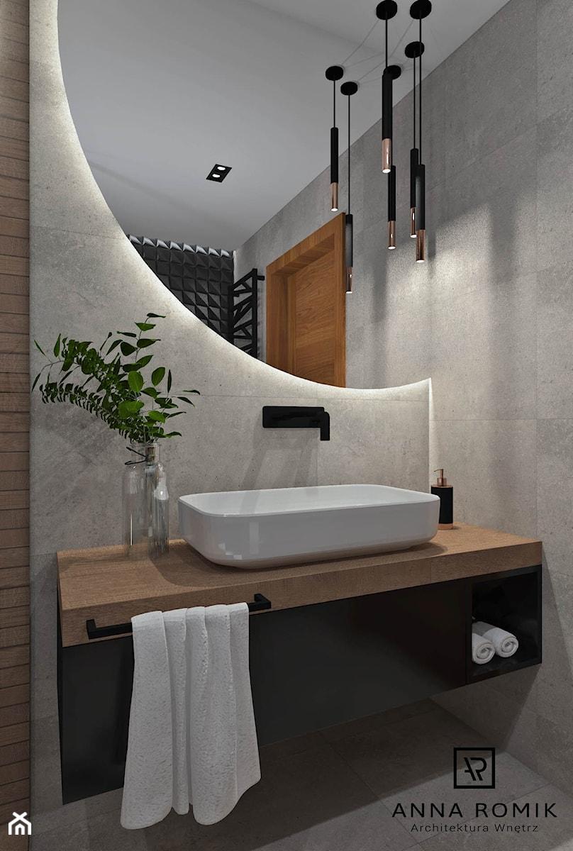Łazienka 13 - Łazienka w bloku w domu jednorodzinnym bez okna, styl nowoczesny - zdjęcie od Anna Romik Architektura Wnętrz