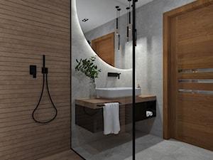Łazienka 13 - Średnia łazienka w bloku w domu jednorodzinnym bez okna, styl nowoczesny - zdjęcie od Anna Romik Architektura Wnętrz