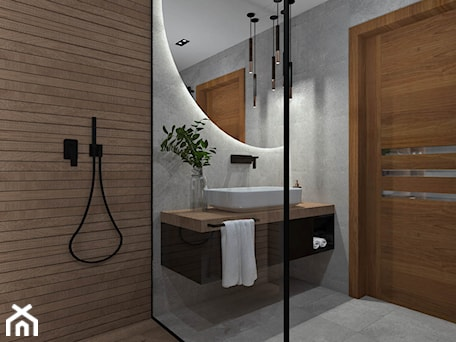 Aranżacje wnętrz - Łazienka: Łazienka 13 - Średnia łazienka w bloku w domu jednorodzinnym bez okna, styl nowoczesny - Anna Romik Architektura Wnętrz. Przeglądaj, dodawaj i zapisuj najlepsze zdjęcia, pomysły i inspiracje designerskie. W bazie mamy już prawie milion fotografii!