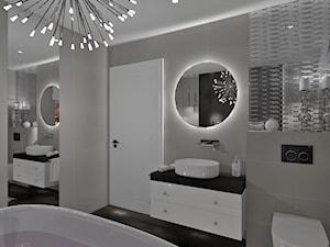 Łazienka 14 - Średnia łazienka w bloku w domu jednorodzinnym bez okna, styl glamour - zdjęcie od Anna Romik Architektura Wnętrz