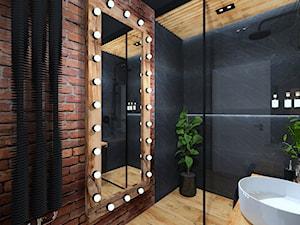 Łazienka 11 - Średnia łazienka w bloku w domu jednorodzinnym bez okna, styl industrialny - zdjęcie od Anna Romik Architektura Wnętrz
