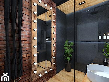 Aranżacje wnętrz - Łazienka: Łazienka 11 - Średnia łazienka w bloku w domu jednorodzinnym bez okna, styl industrialny - Anna Romik Architektura Wnętrz. Przeglądaj, dodawaj i zapisuj najlepsze zdjęcia, pomysły i inspiracje designerskie. W bazie mamy już prawie milion fotografii!