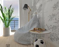 Pokój dziecięcy 3 - Mały szary pokój dziecka dla chłopca dla dziewczynki dla malucha dla nastolatka, styl skandynawski - zdjęcie od Anna Romik Architektura Wnętrz