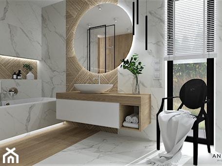 Aranżacje wnętrz - Łazienka: Łazienka 25 - Łazienka, styl nowoczesny - Anna Romik Architektura Wnętrz. Przeglądaj, dodawaj i zapisuj najlepsze zdjęcia, pomysły i inspiracje designerskie. W bazie mamy już prawie milion fotografii!