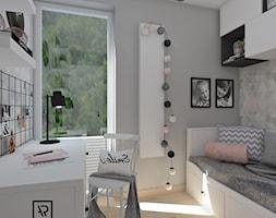 Pokój dziecięcy 5 - Mały szary pokój dziecka dla dziewczynki dla malucha dla nastolatka, styl skandynawski - zdjęcie od Anna Romik Architektura Wnętrz