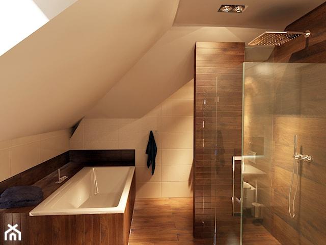 Łazienka na poddaszu w dwóch odsłonach