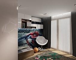Przy Arenie - Mały czarny pokój dziecka dla chłopca dla malucha dla nastolatka, styl nowoczesny - zdjęcie od New Concept Design
