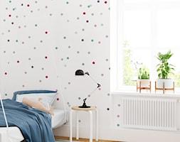 Tapeta dla dziec iw kolorowe kropeczki - zdjęcie od info@humptydumpty.com.pl