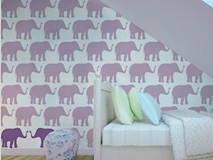 Tapeta dla dzieci w słoniki - zdjęcie od info@humptydumpty.com.pl