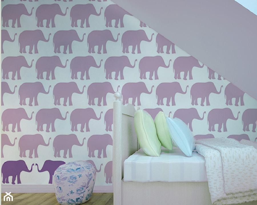 Aranżacje wnętrz - Pokój dziecka: Tapeta dla dzieci w słoniki - info@humptydumpty.com.pl. Przeglądaj, dodawaj i zapisuj najlepsze zdjęcia, pomysły i inspiracje designerskie. W bazie mamy już prawie milion fotografii!