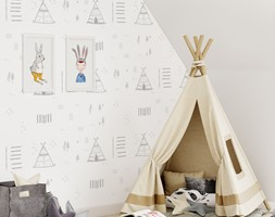 Tapeta dla dzieci Teepee Tent - zdjęcie od info@humptydumpty.com.pl