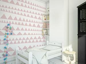 Tapeta dla dzieci Pink Triangles - zdjęcie od info@humptydumpty.com.pl