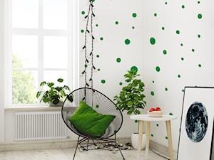 Tapeta dla dziecka w zielone Kropki - zdjęcie od info@humptydumpty.com.pl