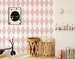 Tapeta dla dzieci w romby. - zdjęcie od info@humptydumpty.com.pl