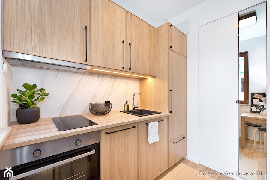 Dębowa kuchnia z Ikea  zdjęcie od Kasia Gal