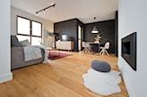 elegancki nowoczesny salon w apartamencie