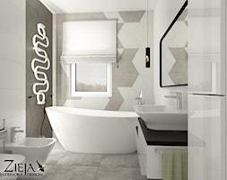 Łazienka Romby - Średnia łazienka w bloku w domu jednorodzinnym bez okna, styl nowoczesny - zdjęcie od Zieja Interiors Design - Homebook