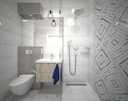 Łazienka Loft - Mała szara łazienka na poddaszu w bloku w domu jednorodzinnym bez okna, styl nowocz ... - zdjęcie od Zieja Interiors Design - Homebook