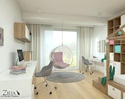 Pokój Ali - Duży biały pokój dziecka dla dziewczynki dla ucznia dla nastolatka, styl nowoczesny - zdjęcie od Zieja Interiors Design