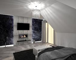 Sypialnia - Średnia kolorowa sypialnia dla gości na poddaszu, styl nowoczesny - zdjęcie od Zieja Interiors Design