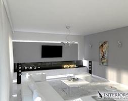 Salon - Duży biały salon, styl nowoczesny - zdjęcie od Zieja Interiors Design