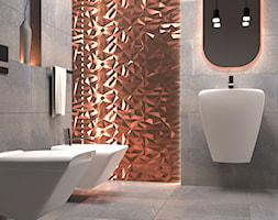 Łazienka Dayton - Mała szara łazienka w bloku w domu jednorodzinnym bez okna, styl nowoczesny - zdjęcie od Zieja Interiors Design - Homebook