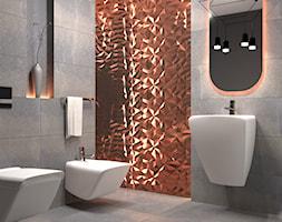 Łazienka Dayton - Średnia szara łazienka, styl nowoczesny - zdjęcie od Zieja Interiors Design - Homebook
